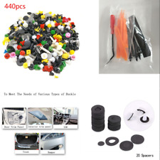 440X Mixed Fastener & Clip Box Packed Plastic Rivets + Remover Tool