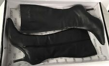 COLIN STUART for Victorias Secret Black Leather Stiletto Zip Knee High Boots 10B