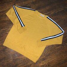Quicksilver Stripe Detail Crewneck Sweater Sz XL Yellow