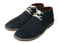 Kenneth Cole Reaction Desert Sun Suede Chukka Lace-Up Boots Navy Blue 11.5 US