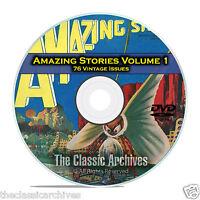 Amazing Stories Vol 1, 76 Vintage Pulp Magazine, Fiction, Hugo Gernsbeck DVD C31