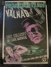 THE GHOST OF FRANKENSTEIN Original, 1942, Swedish Movie Poster, C8.5 VF/NM