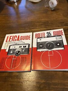 Vintage Leica Guide Instruction Manual & Rollie 35 Guide