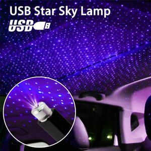 1x USB LED Car Atmosphere Star Light Roof Starry Sky Projector Laser Lamp Party
