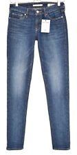 Levis 711 Premium italiano Skinny Jeans Azul Oscuro Tiro Bajo Talla 6 W25 L32