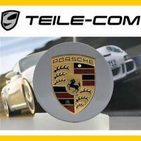 1x NEU+ORIG. Porsche Cayenne 958 Panamera Radzierdeckel konkav Wappen GT-Silber