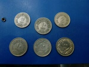 EGYPT COIN LOT OF 6 PCS  #T2032