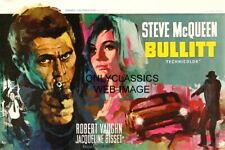 STEVE MCQUEEN JACQUELINE BISSET BULLITT MOVIE RAY ELSEVIERS BELGIAN ART POSTER