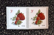 2017USA #5201 3c Strawberries - Coil Pair  Mint  NH    strawberry fruit