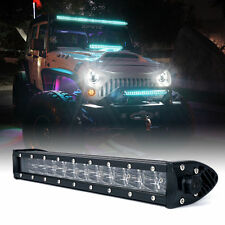 "Xprite C8 Series 72W 14"" Double Row LED Spot Light Bar with Blue Back Light"