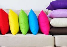 100% Cotton Cushion Cover Plain Assorted Colors 43cm x 43cm
