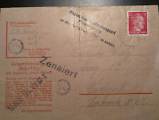 !!! 1943 Germany Flossenburg Concentration Camp KZ Cover Nr.1365 INVALID !!!