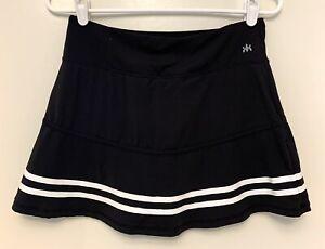 Kyodan Small S Women's Black White Athletic Tennis Skirt Skort Undershorts