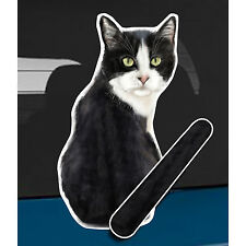 Tuxedo Cat and animal rear window wiper sticker - 10 inches tall