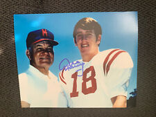 New listing Archie Manning Hand Signed 8 X 10 Photo Autographed Smeared See Pics Ole Miss