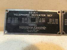 4 Pcs. Vintage Western Electric Telephone Repeater Set Tags