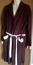 Mens dressing gown size large vintage 1960s brown smoking jacket cream trim