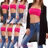 Cardigan donna senza chiusura righe giacca maglia pullover cotone nuovo CJ-2497