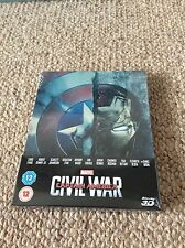 Captain America Civil War Zavvi Limited Edition Steelbook 3D Blu Ray DVD