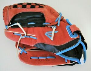 "Easton Natural Baseball Glove 12"" Youth Pattern NYFP1200 Left Hand Thrower Red"