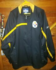 PITTSBURGH STEELERS NFL JACKET XL BLACK  ZIP FRONT