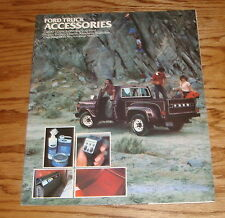 Original 1979 Ford Truck Accessories Sales Brochure 79 Bronco Pickup Ranchero