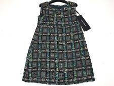 D&G New Girls Toddler WOOL MULTI THREAD PLAID DRESS Sz: 3 RTL: $315 L5ED42 P469