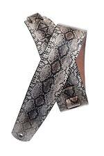 Planet Waves Python Snake Skin Design Leather Guitar Strap