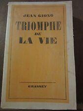 Jean Giono: Triomphe de la vie/ Grasset, 1942