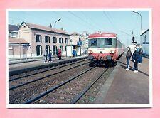 PHOTOGRAPHIE - COUDEKERQUE BRANCHE prés DUNKERQUE - LA GARE - AUTORAIL SNCF