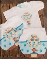 NEW Custom Baby Boy Gift Set Bib, Burp Cloth Shower present Personalized
