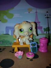 Littlest Pet Shop *LPS * #347 Cocker Spaniel Dog Puppy Coffee Cell Phone acc