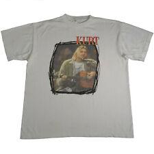 Vintage 90s Kurt Cobain T Shirt Nirvana Unplugged 1995 Memorial End Of Music XL