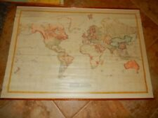 "Large World Map Mercantor 1790  Aaron Arrowsmith Art On Canvas  62 "" by 44"""