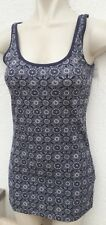BNWT Atmosphere Ladies Size 4 Blue White Print Strappy Top Spring Stretch Vest