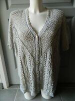 """Gilet manches courtes en crochet  femme T L/XL""""Cotton world"""""""