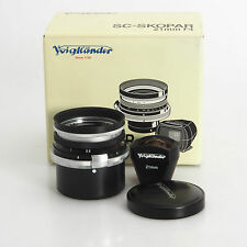 Nikon S/Voigtlander Skopar SC 25mm F4 Manual Focus Lens In Box
