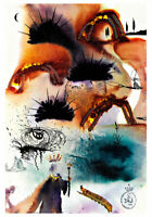 Alices Adventures in Wonderland 10 A2 by Salvador Dali High Quality Canvas Print