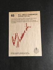 1987 HOCKEY HALL OF FAME CARD W.L. BILL CHADWICK  AUTOGRAPHED