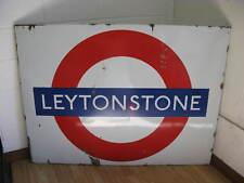 Vintage Enamel Underground sign