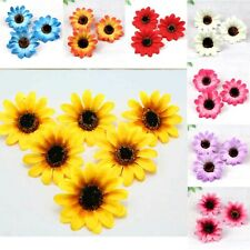 "Wholesale Artificial Sunflower Silk Flower Heads 3"" Fake Floral for Home Decor"