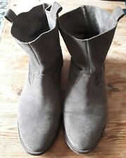 Ladies Suede Pull On Boots Size 4 H&M