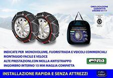Catene da neve Fiat Ducato 225/75-16 R16 per ruote grip 15 mm auto cerchi ruota