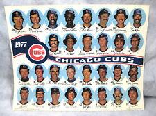 "Vtg Original 1977 CHICAGO CUBS Team Photo Poster (Large 11-1/4"" x 14"")"