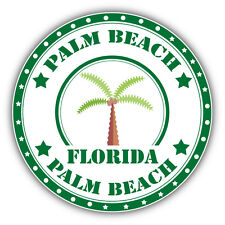 "Palm Beach Florida Stamp Car Bumper Sticker Decal 5"" x 5"""