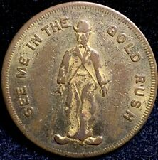 1925 Charlie Chaplin Silent Movie Historic U.S. Token Theater Gold Rush Coin