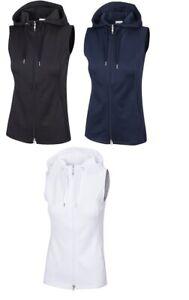 Greg Norman Womens Jacquard Hooded Vest Full Zip Top G2S21J460 - New 2021