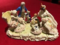 Dresden Porcelain Lace Figurine Grandmother's Birthday *VERY RARE & COLLECTABLE*