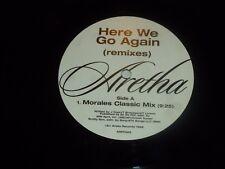 "ARETHA FRANKLIN - Here We Go Again - 1998 UK 6-track advance promo double 12"""