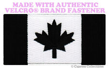 CANADA FLAG EMBROIDERED PATCH CANADIAN BLACK VERSION w/ VELCRO® Brand Fastener